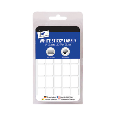 12 x 19 mm White Sticky Self Adhesive Labels Stickers Price Tag Document