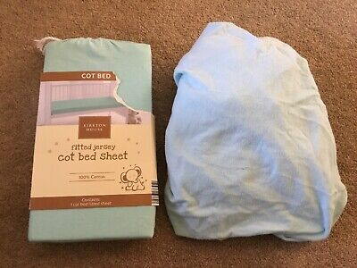 2 X Cot Bed Toddler Bed Fitted Sheets Blue/green - New