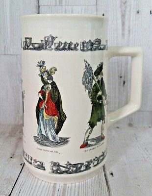 """Holkham Pottery Street Sellers Tankard """"Buy A Rabbit, Come With Me Sir"""" VGC"""