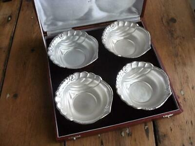 Beautiful Set Of Four Solid Sterling Silver Bowls Dishes