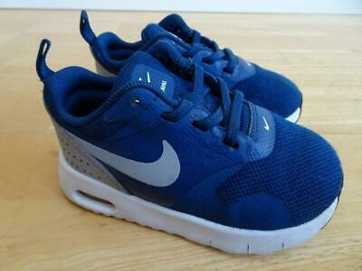 new product dcc43 118c7 NIKE AIR MAX TAVAS little boys navy silver trainers UK 5.5 EU 22 EXCELLENT