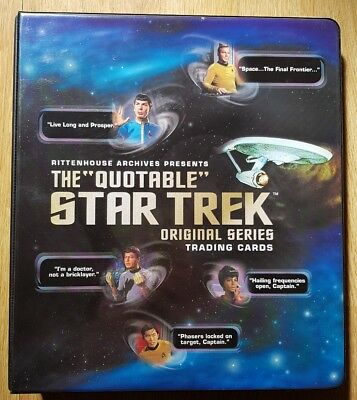 Star Trek Quotable Original Trading cards Binder Chase Cards 15 Autograph Cards