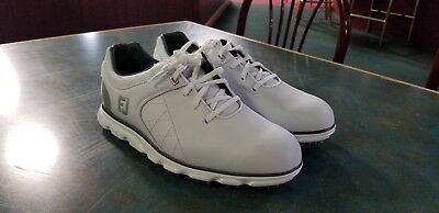 197ac6a9cdd6a NEW FOOTJOY MENS PRO SL Golf Shoes- White/Silver *Multiple Sizes*