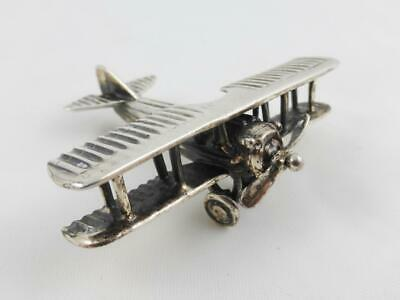 Vintage Medusa Oro Miniature Sterling Silver WW1 French SPAD Fighter Airplane