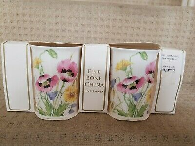 BNWT 2X Roy Kirkham Fine Bone China Floral Mugs