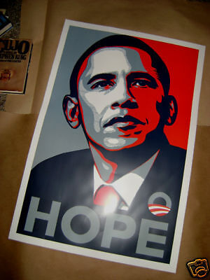 "Barack Obama Democratic HOPE Election Poster 24"" x 36"""