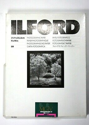 194521 Ilford Multigrade MGIV B&W Photo Paper 11x14 Glossy 24 Sheets *Expired*