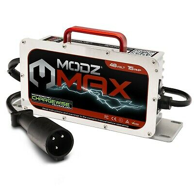 MODZ Max48 15 AMP Club Car Battery Charger for 48Volt Golf Carts without OBC
