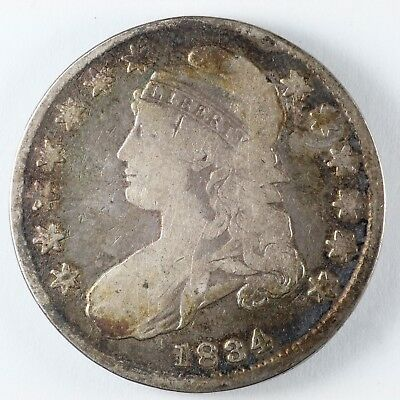 1834 Capped Bust Silver Half Dollar 50C