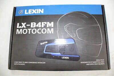 Lexin Lx-B4Fm Motocom Motorcycle Communication Unit Dual Units