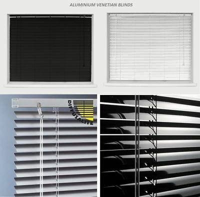 Aluminium Easy Fit Metal Venetian Blinds Trimable 25Mm Slat Home Office 150 Drop