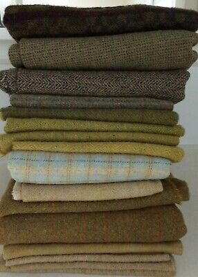 Lot Of Wool Rug Hooking Penny Rugs Wool Applique, 3 Pounds  100% Wool