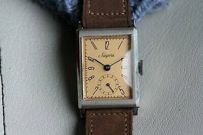 NOS Seigerin Watch with Tag + Strap, New Old Stock, Vintage Watch