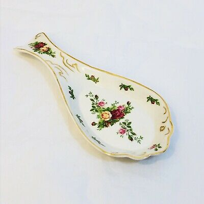 Royal Albert Old Country Roses Spoon Rest Beautiful Condition!