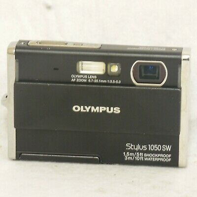 Olympus Stylus 1050SW 10MP Digital Camera Waterproof Black 226455 FREE SHIPPING