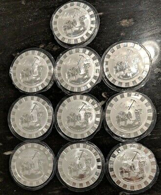 5 oz (10 count=50 oz) Prospector SilverTowne Stackable Round .999 Silver SEALED