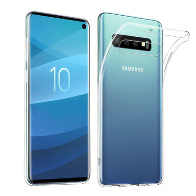 For Samsung Galaxy S10 Plus S10e Slim Transparent Soft TPU Clear Case Back Cover