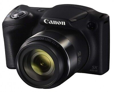 Canon PowerShot SX420 IS 20MP Digital Camera 42x Optical Zoom Black from Japan