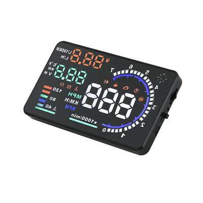 1Pc Car HUD Windshield Project Auto RPM Fuel Consumption Speedmeter for Vehicles