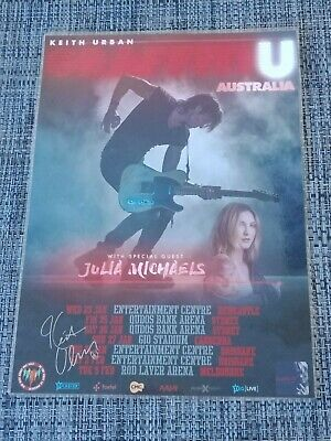 Keith Urban - 2019 Australia Tour - Signed Autographed Laminated Tour Poster