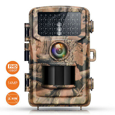 Campark Trail Camera 14MP 1080P Game Hunting Cam Night Vision Infrared 75ft/23m