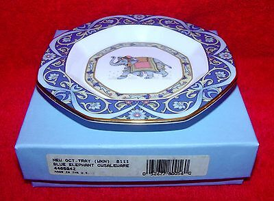 WEDGWOOD  Blue Elephant Octagonal Tray in original box. SCARCE!