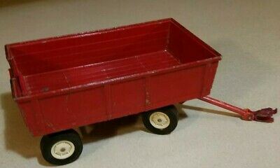 Vintage Ertl Diecast Red Barge Wagon #479 Opening Gate 1:16 Scale