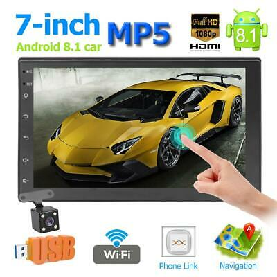 7 inch Android 8.1 Car Stereo MP5 Player GPS Navi WiFi BT FM Radio With Camera