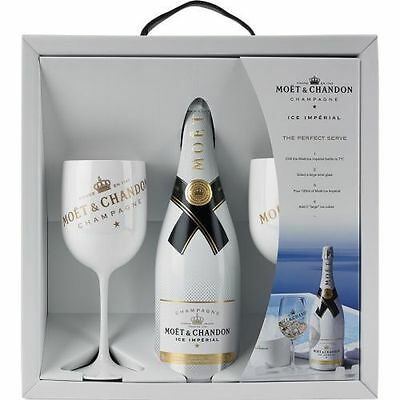 Moet Chandon Ice Imperial Acrylic Glass Goblet New Version set x 2