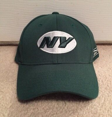 7938dda7b6f New York Jets Reebok Flex Fit Fitted Hat M l Nfl Sideline Coaches Cap  Vintage