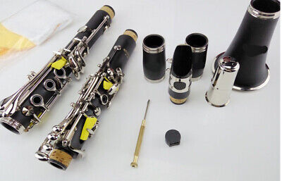 E09 17 Keys Bb Clarinet Black Musical Instrument With Case Accessories O