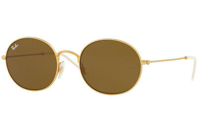 6b6a6114aaccc Ray Ban Sunglasses RB3594 901373 53MM Beat Oval Gold Frame Brown Classic  Lens