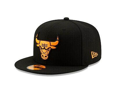 5d3ad356383d18 Chicago Bulls New Era NEON POP Fitted 59Fifty NBA Hat - Black/ Orange Burst
