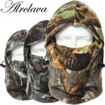 Cap Winter Face And Neck Warmers Fleece Camouflage Cap Balaclava Trekking