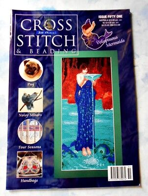 Jill Oxton's CROSS STITCH and BEADING ~ Issue Fifty-One ~ 2002 SC Book in GC