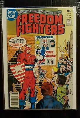 Freedom Fighters (1976 series) #9 Aug. DC comics NM 9.0