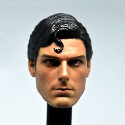 Custom Man Head Sculpt 1/6 Superman 1978 Christopher Reeve PVC Carved Toy Gift