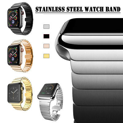 38/42mm Stainless Steel Link Band iWatch Strap Bracelet for Apple Watch 40/44mm