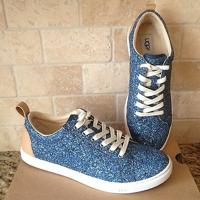 b3bef1d7ad8d Ugg Karine Blue Chunky Glitter Leather Sneakers Shoes Tennis Size Us 6.5  Womens