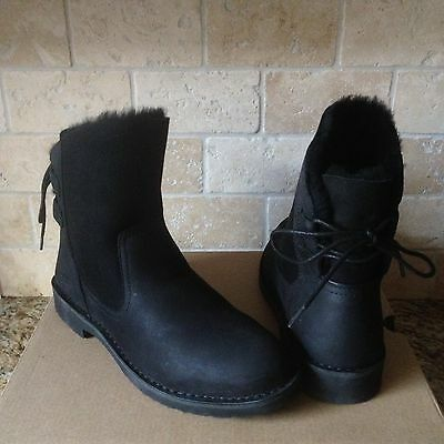 750349a1e96 UGG NAIYAH Lace-Back Genuine Shearling Boot Solid Chestnut 1016850 ...