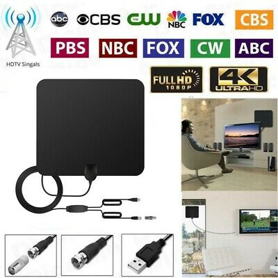 NEW 4K Digital Amplified TV Antenna With Amplifier 200 Miles Range HD 1080P VHF