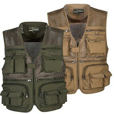 Outdoor Camping Multi-Pocket Vest Fly Fishing Photography Quick-Dry Jacket Coat