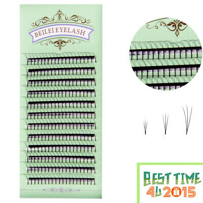3D Premade Volume Fans Volume Lashes Individual Eyelash Extensions 8 mm -15 mm