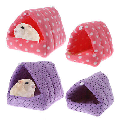 Small Animal Hamster Hammock Guinea Pig Sleeping Bed Cage Plush Warm House