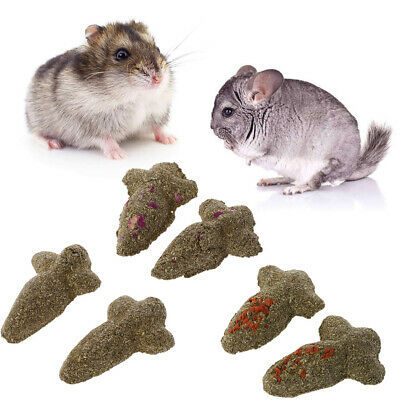 2x Carrot Shape Hamster Teeth Grinding Cake Cookie Small Pets Rabbit Chew Toys