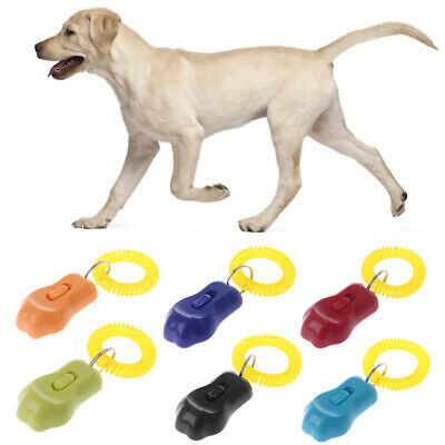 Dog Training Clicker Wrist Strap Puppy Sounder Whistle Obedience Aid 3 Gear