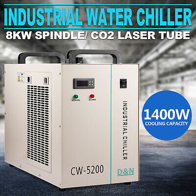 US STOCK 130W/150W CW-5200DG Industrial Water Chiller for CO2 Laser Tube Cooler