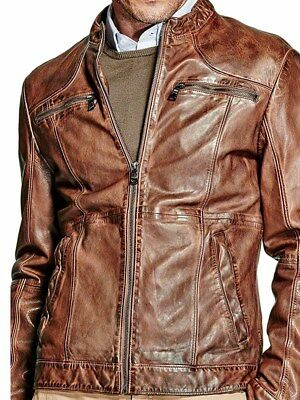 Giacca Pelle MARCIANO GUESS Uomo Marrone tg  S,M,L A1/44
