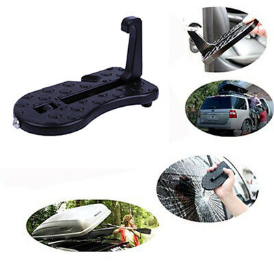 Car Foldable Doorstep Ladder Rooftop Access With Safety Hammer For SUV Jeep Auto
