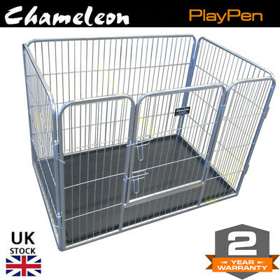 Heavy Duty dog Puppy Play Pen Whelping Box foldable 42inch Enclosure Playpens